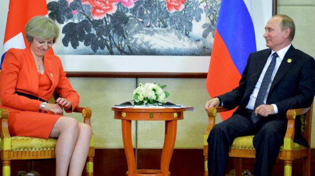 """В Кремле объяснили """"отказ"""" Терезы Мэй пожать руку Путину"""