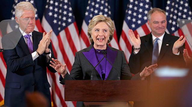 Клинтон выступила с речью о горечи поражения