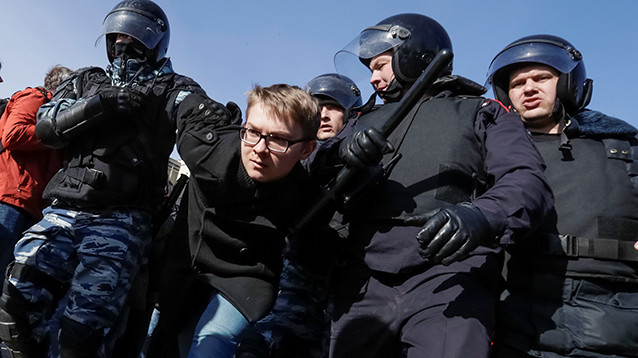 В Москве задержали 850 участников протестов