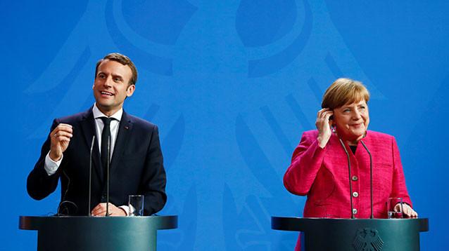 Макрон и Меркель договорились реформировать Евросоюз