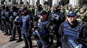 В Киеве полицейские применили слезоточивый газ. Задержаны 11 человек
