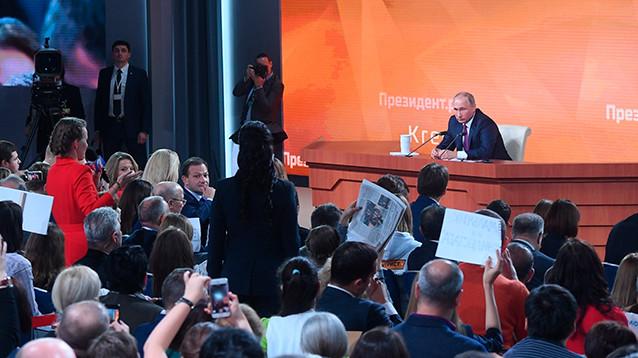Путин провел 13-ю большую пресс-конференцию - она была особенной: позади 18 лет правления, впереди еще шесть, а возможно, и больше