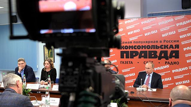 """Путин обвинил США в попытке """"продвинуть"""" Навального в руководство России"""