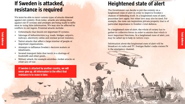 Шведские власти разослали населению брошюры с рекомендациями на случай войны