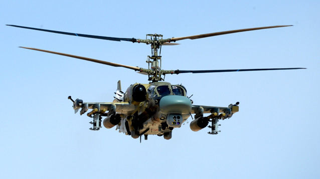 В Сирии разбился российский вертолет Ка-52: оба летчика погибли