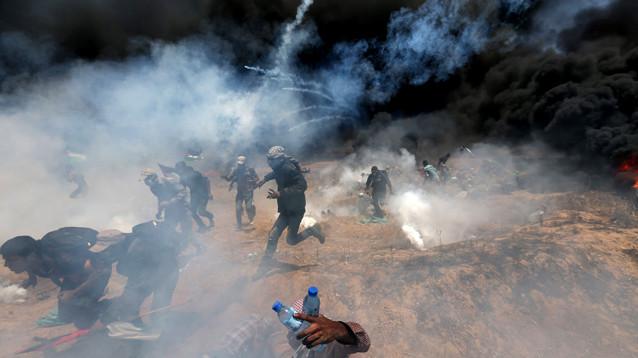 Жертвами столкновений на границе сектора Газа с Израилем стали 55 человек