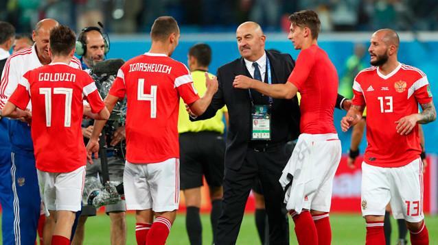 Россия обыграла Египет в матче ЧМ-2018 и практически обеспечила себе выход из группы