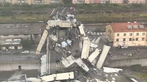 В Генуе обрушился автомобильный мост, сообщается о десятках погибших (ВИДЕО)