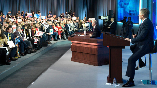 В ответах Путина на большой пресс-конференции насчитали 23 ошибки