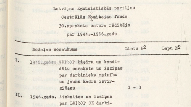 В День чекиста в Латвии обнародовали часть архива КГБ