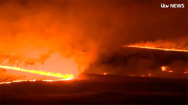 Аномальная теплая погода в Западной Европе привела к смогу и природным пожарам