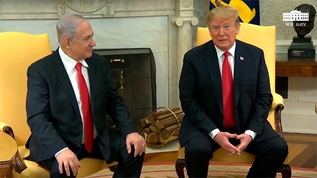 Трамп подписал прокламацию, признающую суверенитет Израиля над Голанами