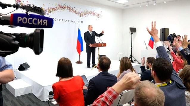 """Путин по итогам саммита G20: агрессия РФ - """"иллюзия"""", дело Голунова - произвол, """"трансформеров"""" в России не обижают"""